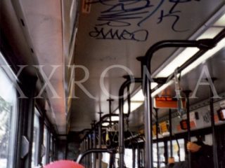 Chico bombs bus ceilings. 1998.